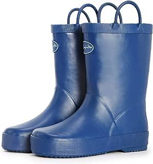 navy blue toddler rain boots