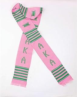 Alpha Kappa Alpha Sorority Handwoven Ghana Kente Stole Pink