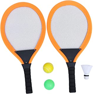 NUOBESTY 2pcs Children Sports Badminton Set Tennis Racket and Shuttlecocks Balls Outdoor Sports Playing Toy Set for Kids C...