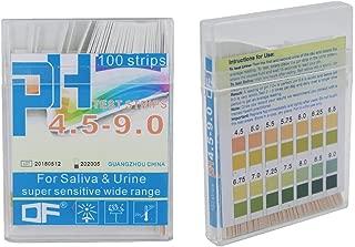 fEStprintse 5m 0-14 Papel de Prueba de pH Indicador de /ácido alcalino Rodillo para Agua Orina Saliva Suelo Tornasol Exactitud Pruebas Piscina de medici/ón