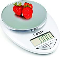 Ozeri ZK12-W Pro Digital Kitchen Food Scale, 1g/12 lb, White