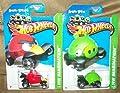 Rare Angry Birds HOT Wheels CAR Set Minion & RED Bird Vehicles 2013