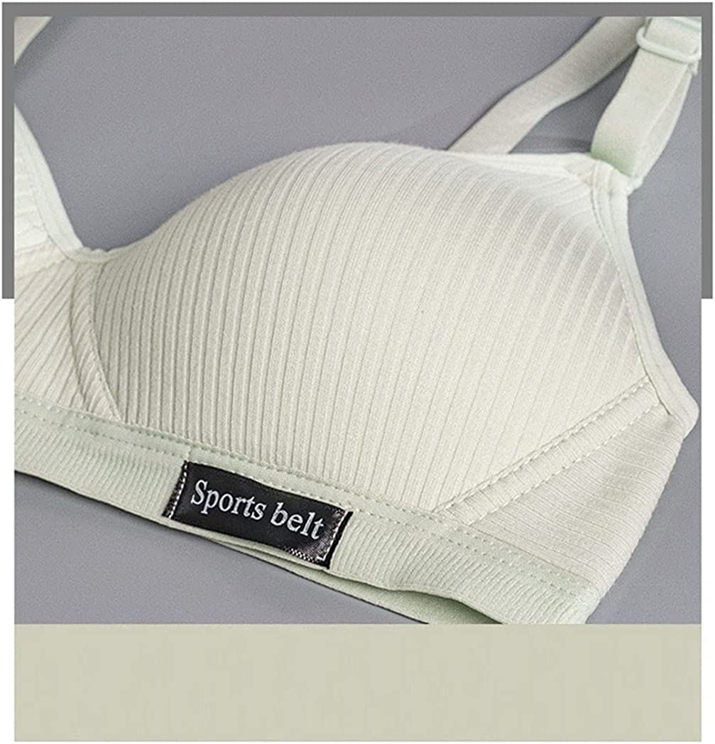 MOONMALLS Big Girl's Seemless, Thin Cotton Light and Breathable Bralette,Training Bra with Adjustable Straps