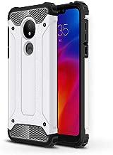 Motorola Moto G7 Power Case,Moto G7 Power Case,LuckyMi TPU & Hard PC Hybrid Cover Dual Layer Armor Grip Anti-Scratch Protective Case for Motorola Moto G7 Power Smartphone (White)