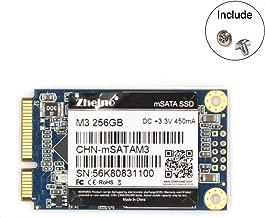 Zheino mSATA SSD 256GB M3 Internal mSATA Drive 3D Nand Flash Solid State Drive for Mini PC Notebooks Tablets PC