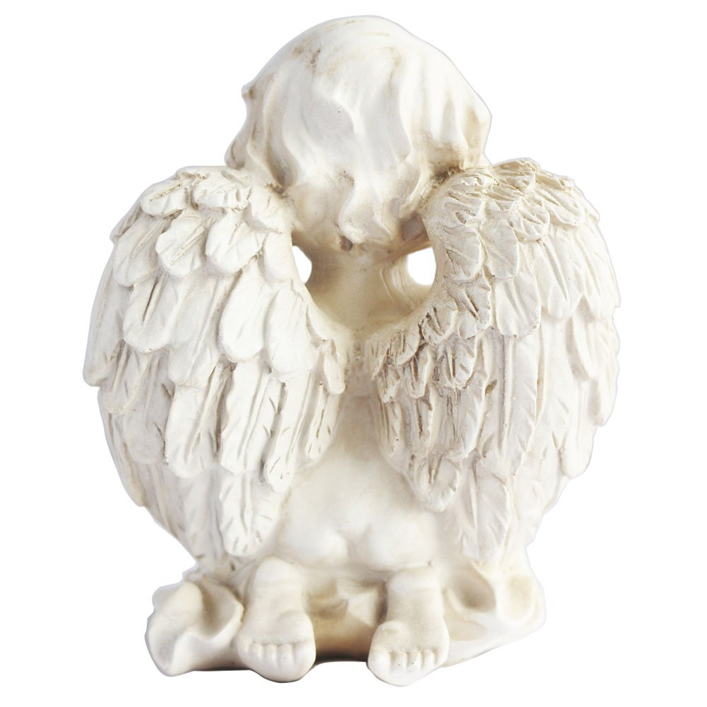 Kneeling Praying Cherub Statue Angel Figurine Home Garden Decor Memorial Statue
