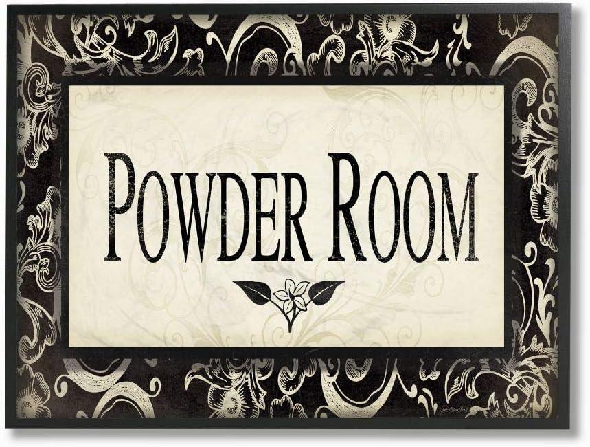 Our Max 61% OFF shop most popular Stupell Industries Powder Room Beige Bathroom Wall Black Framed