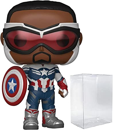 Funko Pop! Marvel: Falcon and The Winter Soldier - Sam Wilson as Captain America Vinyl Figure (Includes Compatible Pop Box Protector Case)