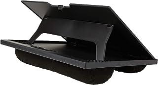 Mind Reader LTADJUST-BLK Adjustable Portable 8 Position Lap Top Desk with Built in Cushions, Black (Renewed)