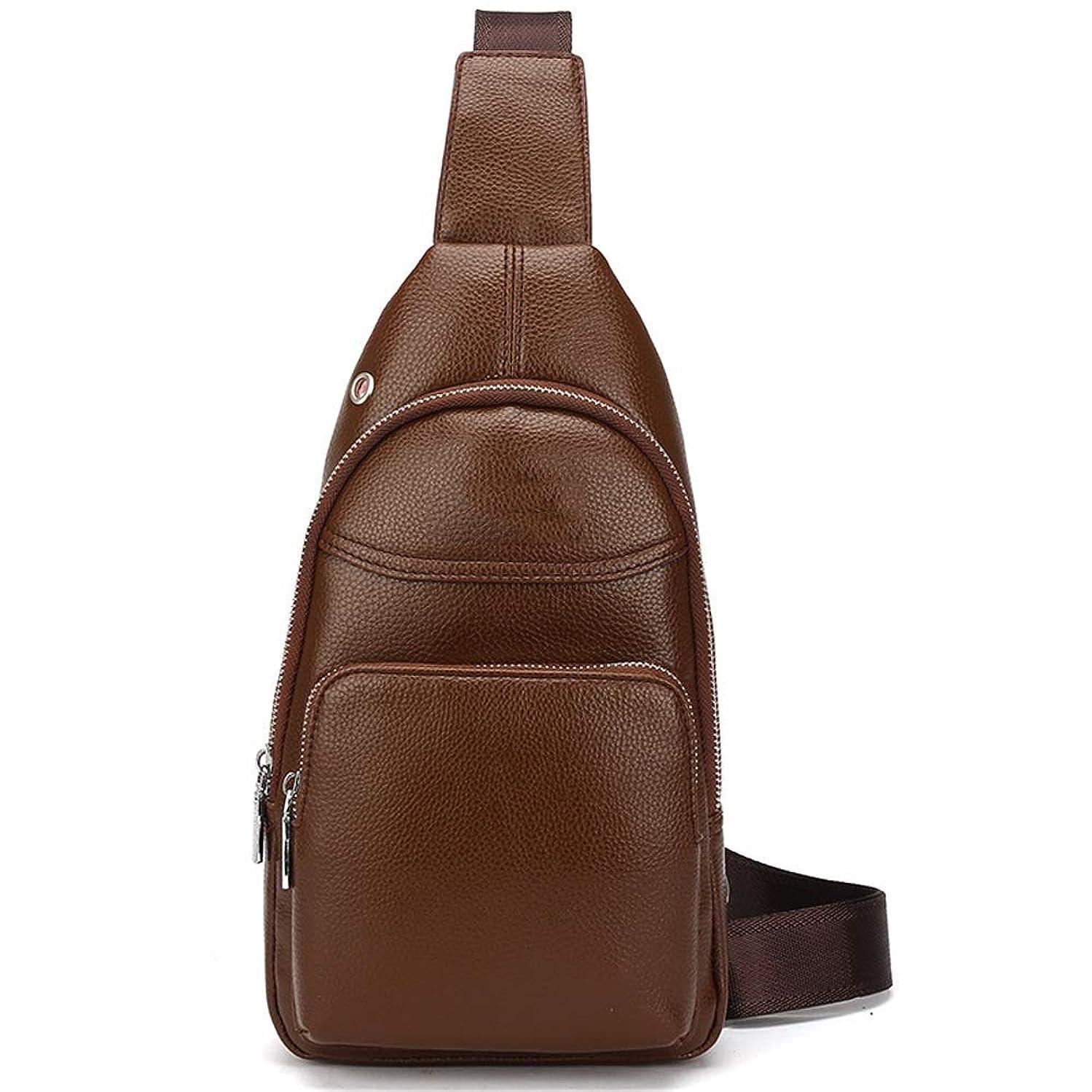 NY-close Men's Chest Bag, Chest Strap Shoulder Bag Messenger Bag Diagonal Zipper Shoulder Bag, Fashion Outdoor Leisure Bag, Hiking Backpack Business Casual Sports (Color : Khaki)