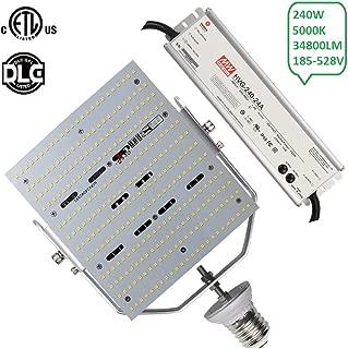 347V 240W LED Street Light Fixture Retrofit 1000W Metal Halide Shoebox Parking Lot Pole Highway Lighting 5700K Daylight E39 Mogul Base AC185~528V Input