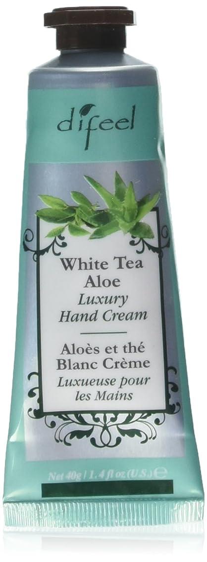 はげ蓋衰えるDifeel(ディフィール) ホワイトティー&アロエ ナチュラル ハンドクリーム 40g WHITE TEA&ALOE 07WTA New York 【正規輸入品】