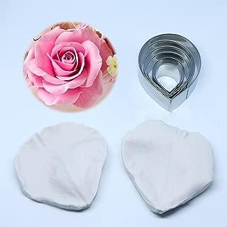 Carunke Gumpaste Surgraft Rose Petal Silicone Veiner & Steel Cutter Fondant Cake Decoration Mould
