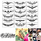 ELANE 19 Sheets Temporary Tattoo Stickers...