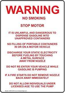 gas pump warning signs