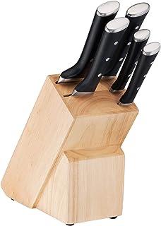 Tefal Ice Force Bloc en Blois 5 Fentes + 5 Couteaux, Couteau à Pain 20cm, Couteau Chef 20cm, Couteau Santoku 18cm, Couteau...