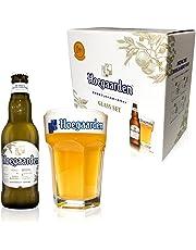 【オリジナルグラス付きセット】ヒューガルデン ホワイト瓶 [ ベルギー 330ml×4本 ] [ギフトBox入り]