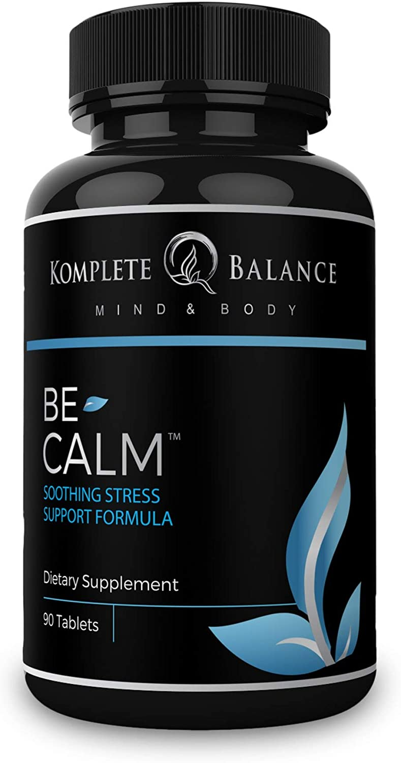 BeCalm Premium New color Stress Anxiety National uniform free shipping Relief Sle Supplement Natural