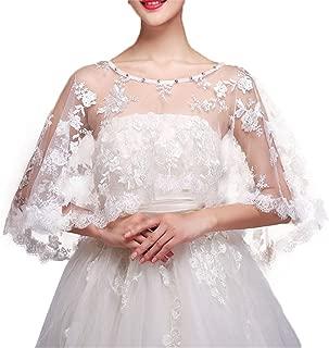 Women Lace Bridal Shawl Wrap Shrug Bolero Wedding Tulle Cape for Bride