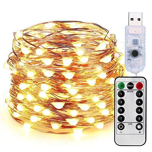 Guirnalda de Luces LED Decorativas 10 Metros 100 LEDs Blanco