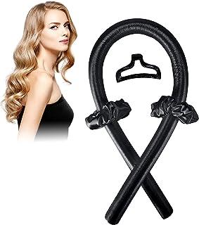 No Heat Hair Curlers, Heatless Curls Headband For Long Hair, Soft Foam Hair Rollers, Silk Curling Ribbon and Flexi Rods, L...