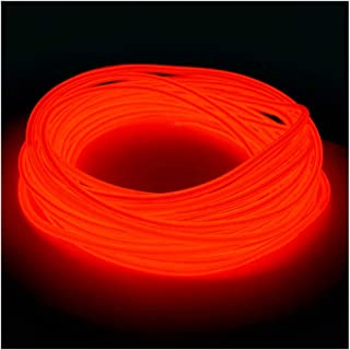 5mm EL Wire Kit - Red - 20 FT Premium from GlowCity