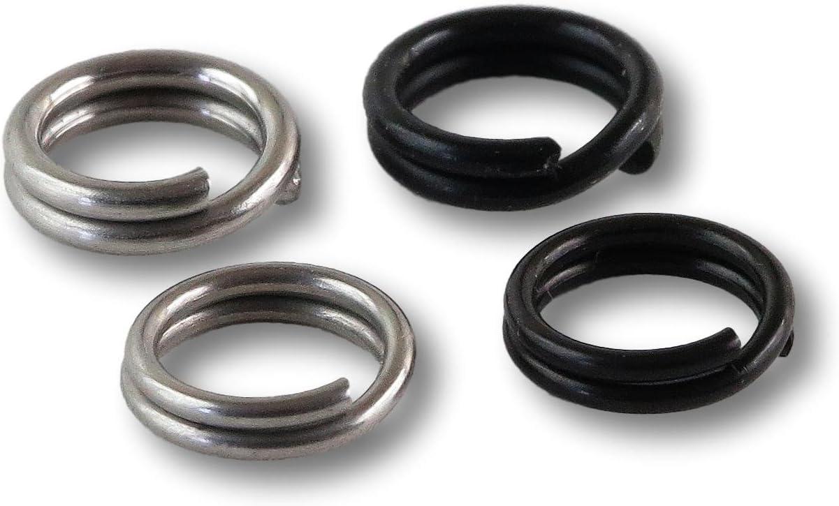 Demeras Split Rings Kit Angeln Kleine Split Ringe 50 St/ück//100 St/ück 7 Gr/ö/ßen Edelstahl Angelger/ät K/öder Doppelkreis Split Ring Connector
