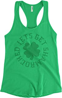 Women's Let's Get Shamrocked Funny St Patrick's Day Racerback Tank Top