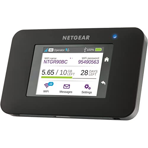 Netgear AC790-100EUS Hotspot Mobile 4G+ LTE Écran Tactile Couleur, Fonction SMS et Powerbank Inclus