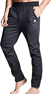 Souke Sports Men's Winter Cycling Trousers Outdoor Sport Pants Windproof Hiking Trousers with Zip Pockets for Fitness Camp...