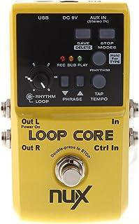 NUX LOOP CORE Pedal de Guitarra Efecto Eléctrico Tiempo de Grabación de 6 Horas Patrones de Tambores Incorporados