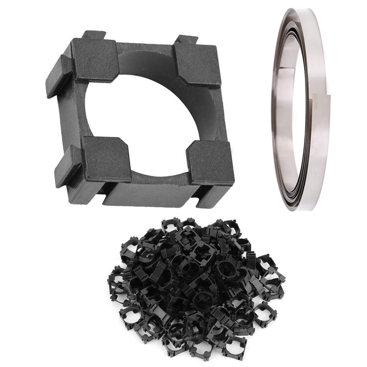 DAOKI 100PCS 18650 Max 86% OFF Lithium Battery Cell Plastic Bracket Holder Inventory cleanup selling sale L