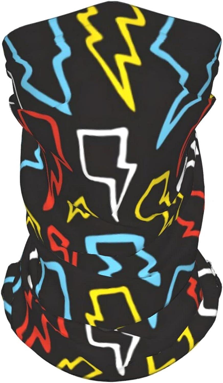 Yellow Lightning Neck Gaiter Multipurpose Headwear Ice Silk Mask Scarf Summer Cool Breathable Outdoor Sport 4 Pcs