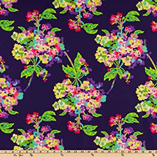 FreeSpirit Fabrics Amy Butler Love Water Bouquet Midnight Fabric by The Yard