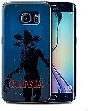 Personalized Custom Strange Retro Case for Samsung Galaxy S6 Edge/Demogorgon Monster Design/Initial/Name/Text DIY Cover