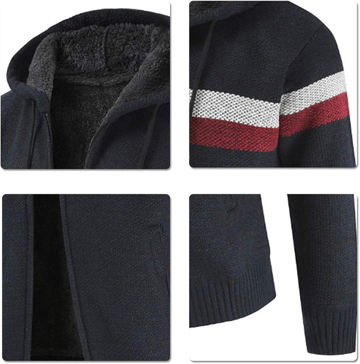 con cappuccio e cerniera Cardigan da uomo lavorato a maglia taglia XS
