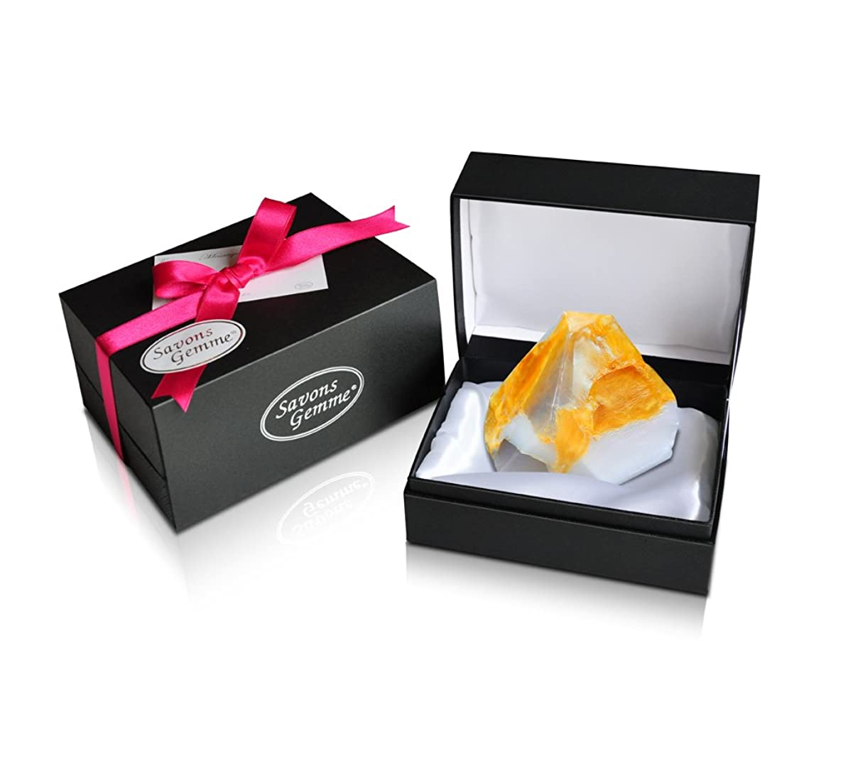 学期旅行者遮るSavons Gemme サボンジェム ジュエリーギフトボックス 世界で一番美しい宝石石鹸 フレグランス ソープ 宝石箱のようなラグジュアリー感を演出 アルバトールオリエンタル 170g 【日本総代理店品】