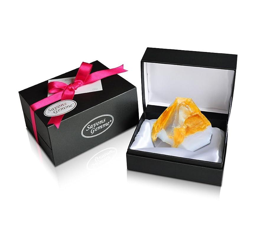 クラックポットプロペラ起業家Savons Gemme サボンジェム ジュエリーギフトボックス 世界で一番美しい宝石石鹸 フレグランス ソープ 宝石箱のようなラグジュアリー感を演出 アルバトールオリエンタル 170g 【日本総代理店品】