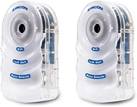 Zircon Leak Alert WiFi- 2 Pack - Smart Electronic Water Detector Alarm with Email, Audio and Visual Alerts - Battery Included