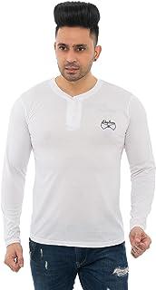SKYBEN Branded Confort Fit Stub Tshirt for Men in White Color