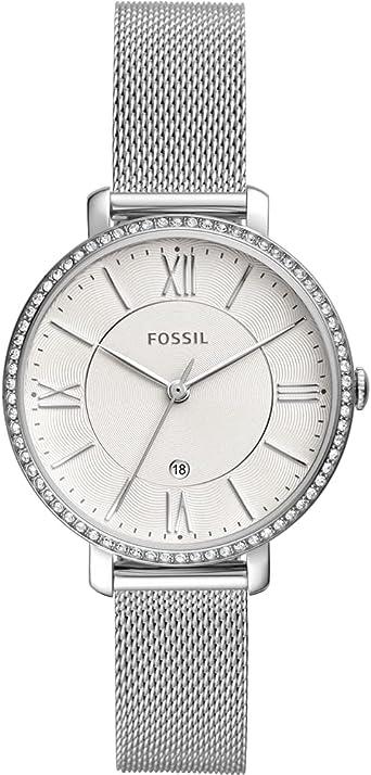 Fossil Reloj de pulsera analógico de cuarzo para mujer, acero inoxidable 32010665