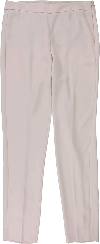 DKNY Womens Slit Hem Casual Trouser Pants, Pink, 2