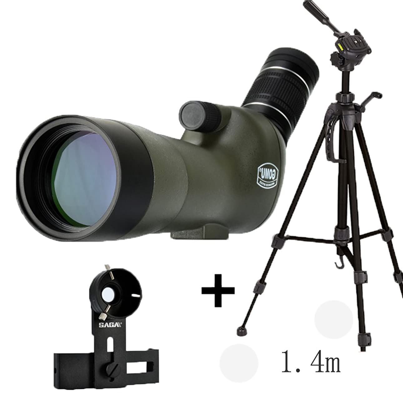 町彫刻慣れているJAD@ 20-60X 大人用 大型接眼レンズ スポッティングスコープ ipx7 防水 バードウォッチング 単眼鏡 望遠鏡 風景レンズ 三脚付き 45度 視野角 単眼鏡