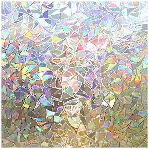 LMKJ Película de Ventana de preservación estática Pegatina de Vidrio Decorativo de Vidrio 3D, película de Vidrio de Ventana y Puerta de privacidad Opaca A80 30x100cm