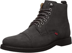 MARC JOSEPH NEW YORK Men's Leather Luxury Laceup Lug Boot Ankle
