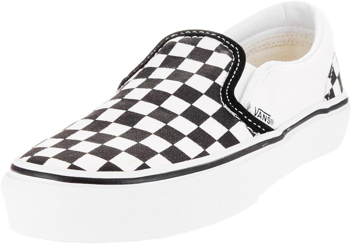 Vans Classic Slip-ON (Checker) Black/White Youth 11.5