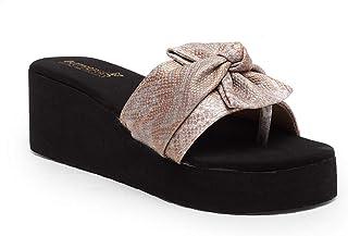 Butterflies Steps Latest Collection, Comfortable Wedges Sandal for Women's & Girl's (Mauve) (GHS-0050DLMV)
