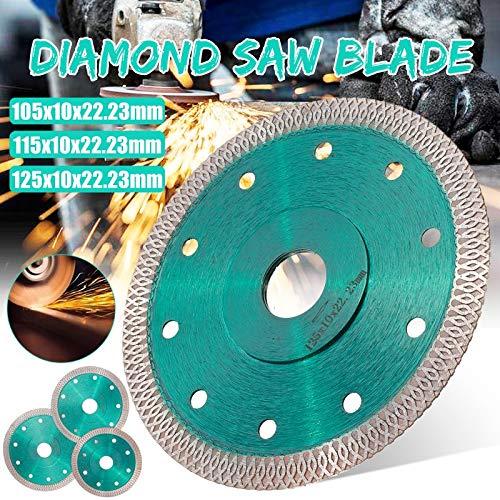 ZLININ Disco de corte de diamante turbo de malla sinterizada prensada 105/115/125 mm para baldosas de porcelana cerámica (diámetros externos: 105 mm)