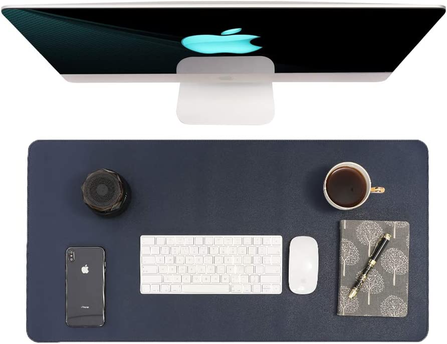 Writing Desk Pad Protector,Non-Slip PU Leather Desk,Mouse Pad,Office Desk Mat,Laptop Desk Pad,Waterproof Desk Writing Pad for Office and Home(31.5