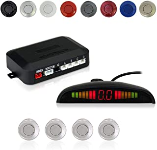 EKYLIN Car Auto Vehicle Reverse Backup Radar System with 4 Parking Sensors Distance Detection + LED Distance Display + Sou...